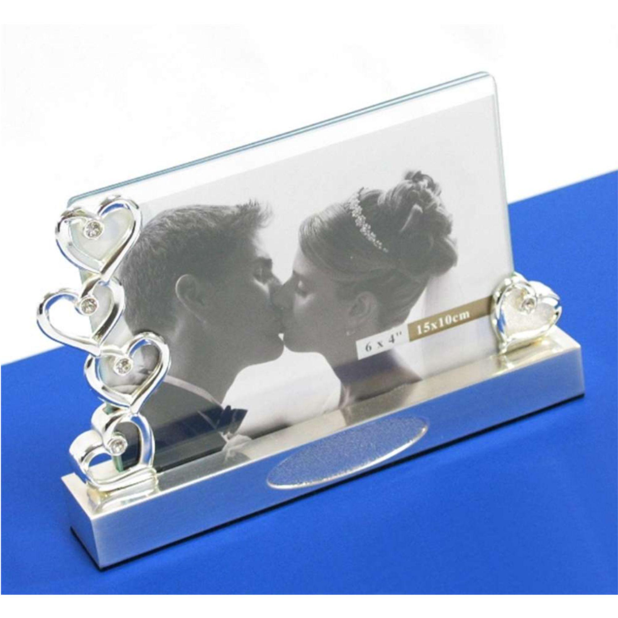 Cadeau Mariage Cadre En Argent Avec Coeurs
